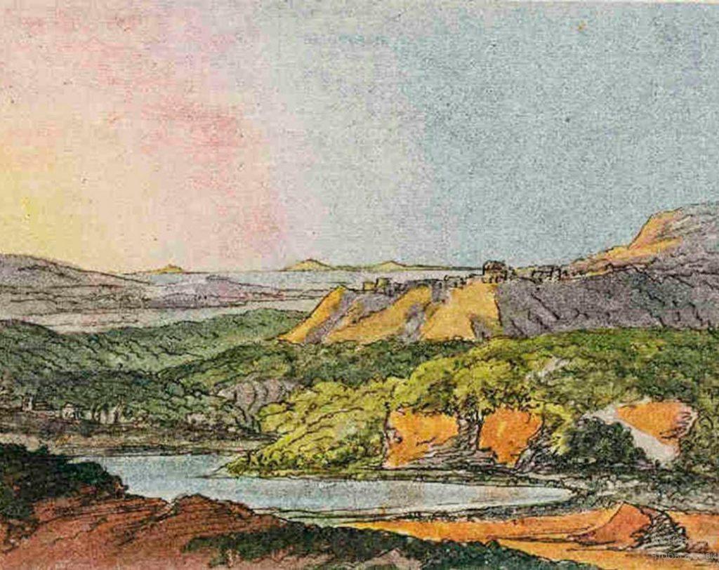 Пейзаж на итальянском побережье, Иоганн Гете,1787