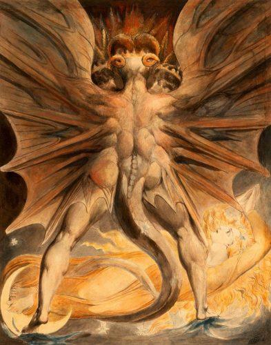 """Уильям Блейк, """"Великий красный дракон"""" 1810. Журнал """"Формаслов"""""""