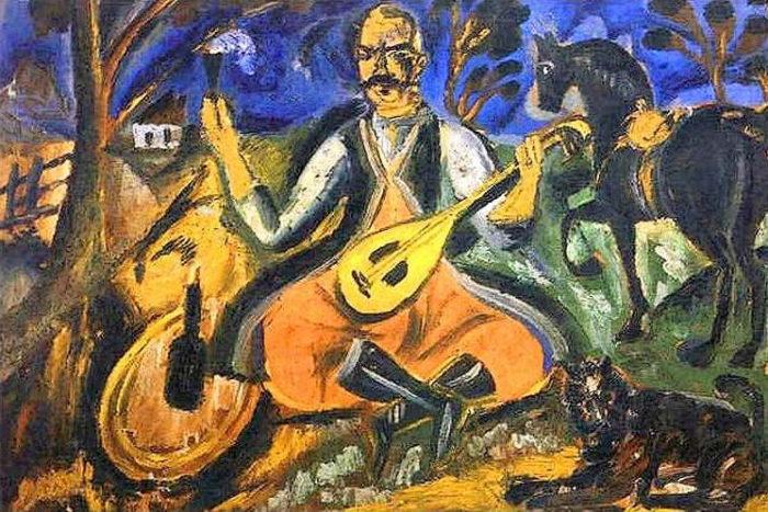 "Давид Бурлюк, ""Козак Мамай"", 1912 // Журнал ""Формаслов"""