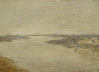 """Исаак Левитан. """"Серый день. Волга"""". 1886 – 1890 // Формаслов"""