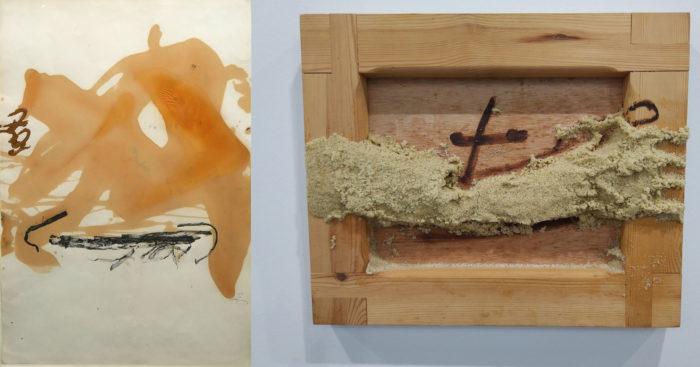 """Работы Antoni Tapies: слева 1982 года, справа 2000 года. Фото Дарья Тоцкая. Журнал """"Формаслов"""""""