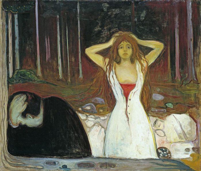 """Эдвард Мунк, """"Пепел"""", 1894 // Формаслов"""