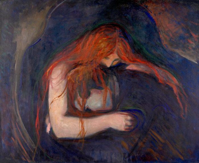 "Эдвард Мунк, ""Вампир"", 1895 // Формаслов"