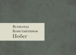 Всеволод Константинов. Побег // Формаслов