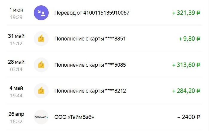 Поступления за май // Формаслов