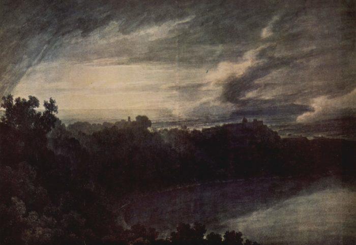 """Джон Козенс, """"Озеро Альбано"""", 1777 // Формаслов"""