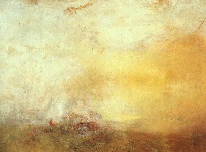 """Уильям Тёрнер, """"Восход с морскими чудовищами"""", 1845 // Формаслов"""