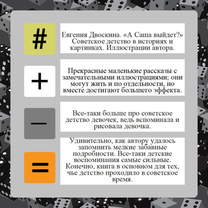 Евгения Двоскина. «А Саша выйдет?», 2020 // Формаслов