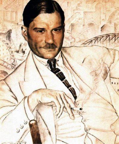 Е. И. Замятин (портрет работы Б. М. Кустодиева, 1923 год) // Формаслов