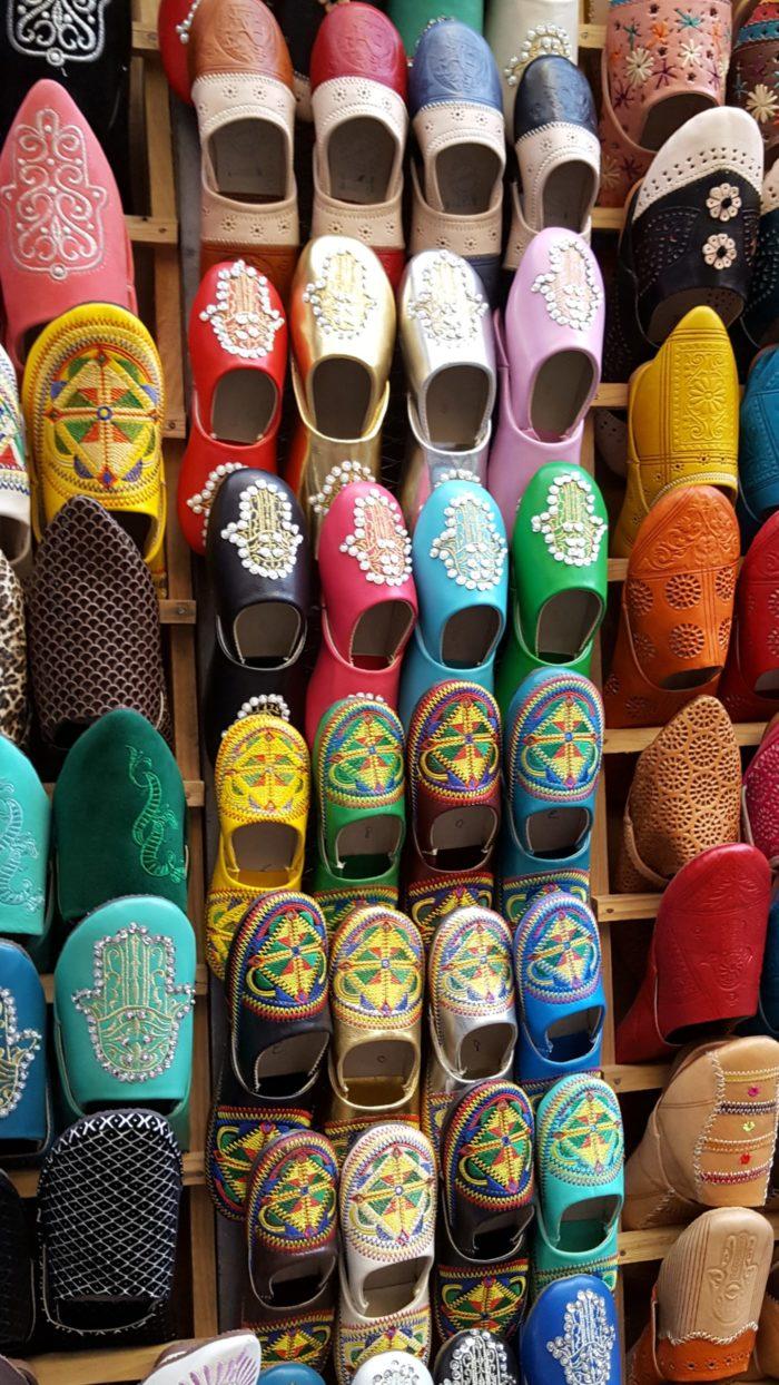Кожаная обувь, которой славится Фес. Фото Галины Ицкович // Формаслов