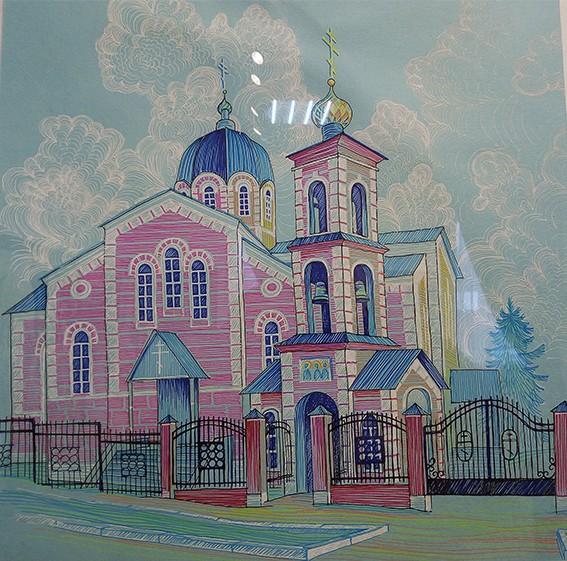 Лейла Кадикова. Картина «Церковь Казанских святителей» // Формаслов